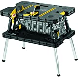 Keter 21.65 x 33.46 x 29.7 in. Adjustable Folding Compact Table Work Station Solution