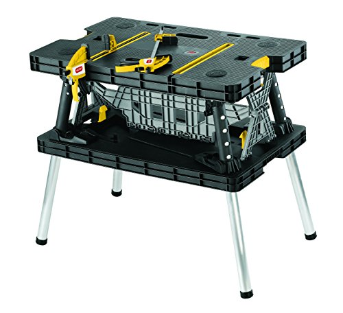 Keter 17182239 Folding Compact Workbench Work Table, 21.7 x 33.5 x 29.75 Inches (Portable Tool Bench compare prices)