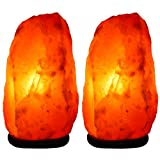 Indus Classic Lot Of 2 Himalayan Salt Rock Crystal Table Lamp 5~7 Lbs Unique Gift Idea