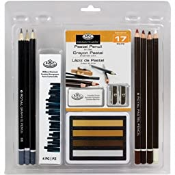 RART2007 Clamshell Art Sets-Pastel Pencil, 17 Pieces