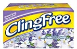 ClingFree Fabric Softener Sheets, Outdoor Spring, 102 Ct (Pack of 6)