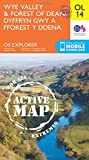 Wye Valley & Forest of Dean / Dyffryn Gwy a Fforest y Ddena (OS Explorer Map Active)