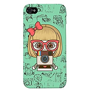 Fuson Camera Pattern Back Case Cover for APPLE IPHONE 4 - D3758