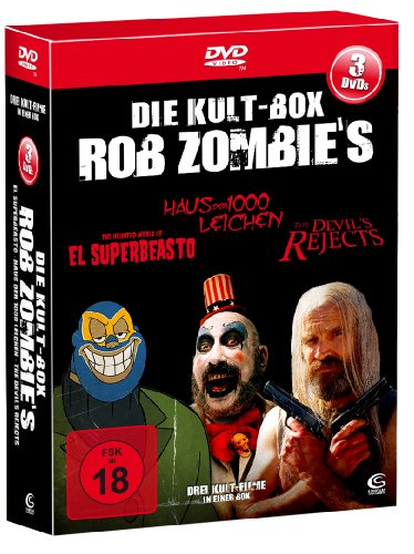 Die Rob Zombie Kult Box - Boxset mit 3 Rob Zombie Knallern (The Devil's Rejects, Haus der 1000 Leichen, El Superbeasto) [3 DVDs]