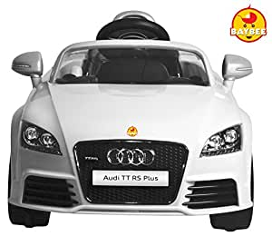 Buy Baybee Officially Licensed Audi Tt Rs Plus Battery Operated Sports Car With R C White