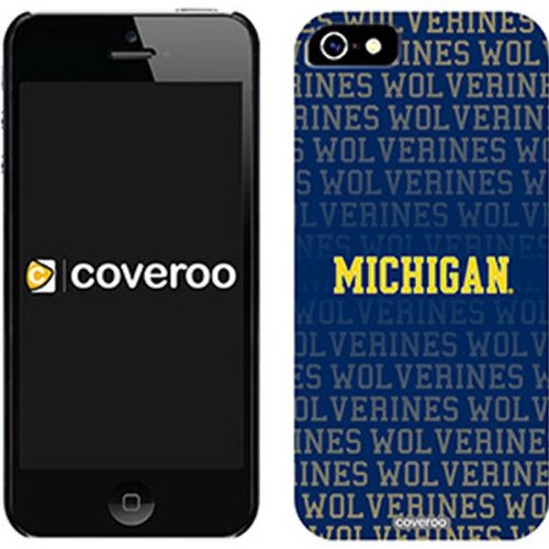 Great Price NCAA Michigan Wolverines iPhone 5 Allover Snap-On Case - Navy Blue