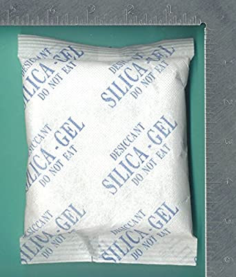 "200 Gram Pack of 5 ""Dry&Dry"" High Quality Silica Gel Packets"