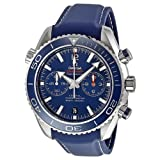 Omega Seamaster Planet Ocean Chronograph Automatic Blue Dial Mens Watch 23290465103001 (Color: Blue)