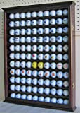 110 Golf Ball Display Case Wall Cabinet Holder, with glass door, Solid Wood