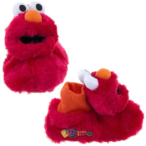 Disney 0SEF212 Sesame Street Slipper (Toddler/Little kid),Red,Large (9-10 M US Toddler)