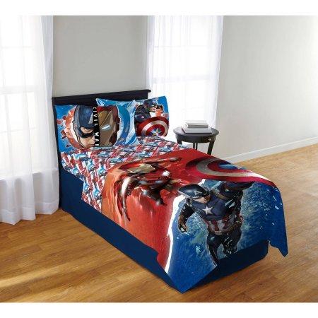 Best Seller Bedding for Kids   Marvel Avengers Civil War Sheet Set - Polyester (Marvel Bedding King Sheets compare prices)