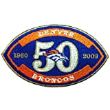 Denver Broncos Anniversary Logo Embroidered Iron Patches at Amazon.com