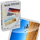 LD © Premium Glossy Inkjet Photo Paper (4X6) 100 pack - Resin Coated