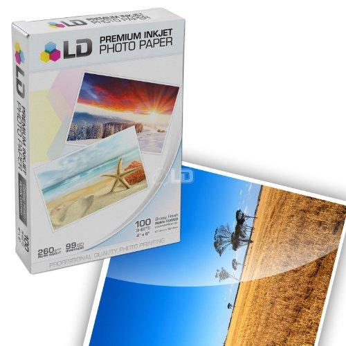 LD © Premium Glossy Inkjet Photo Paper (4X6) 100 pack - Resin Coated (Resin Coated Inkjet Paper compare prices)