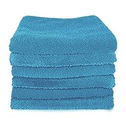 Unger 966940 Ultra-Absorbent Microfiber Cloths, Blue (Pack of 6)