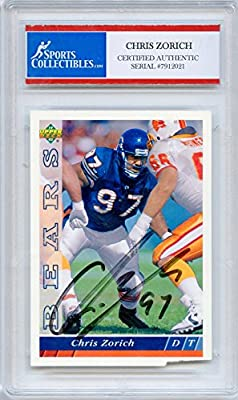 Chris Zorich Autographed Chicago Bears Encapsulated Trading Card - Certified Authentic