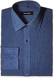 Greenfibre Men's Formal Shirt (37IT_44_Blue)