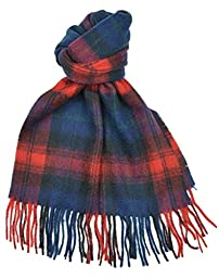 Lambswool Scottish Maclachlan Modern Tartan Clan Scarf Gift