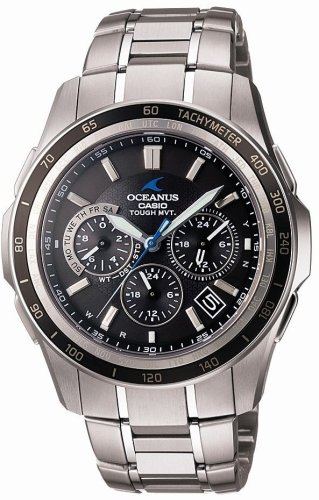 CASIO (カシオ) 腕時計 OCEANUS Manta オシアナス TOUGH MVT タフソーラー 電波時計 MULTIBAND6 OCW-S1200-1AJF メンズ