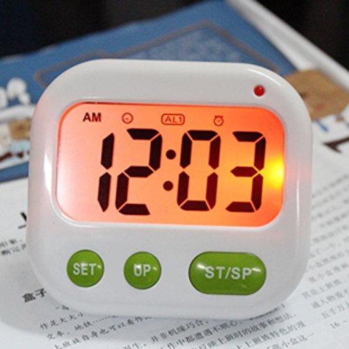 Luminous vibrations of fashion alarm clock/[Creative Silent Alarm]/ simple muting the alarm clock-green