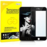iPhone 6 Screen Protector, JETech® Full Screen Premium Tempered Glass Screen Protector for Apple iPhone 6 4.7 (Black)