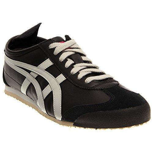 Onitsuka Tiger Women's Mexico 66 Shoe,Black/Light Grey,10 M US