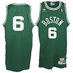 Boston Celtics Bill Russell Adidas Team Color Throwback Replica Premiere Jersey by adidas