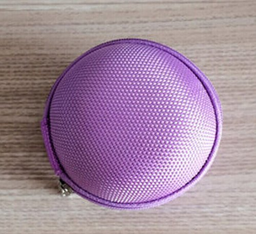 Noarks Portable Earphone / Usb Cable / Mp3 Smart Mesh Bag Mobile In-Ear Headset Stereo Wired Sport Bag Holder Pouch Hold Box Pocket Hard Hold Protection Headsets Hard Eva Carrying Case/Bag (B-Light Purple)