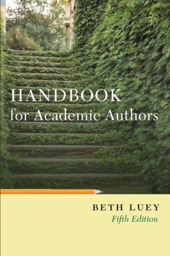 Handbook for Academic Authors