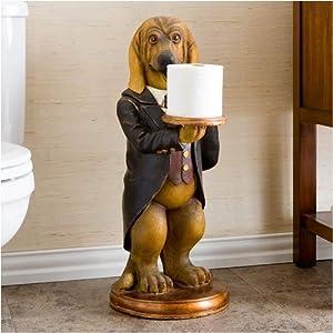 Hound dog bathroom butler tissue holder for Bathroom butler toilet paper holder