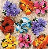 Hula Girl Flower Lei Hair clip (12 pack)