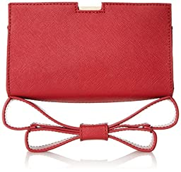 Zac Zac Posen Milla Clutch, Pomegranate, One Size