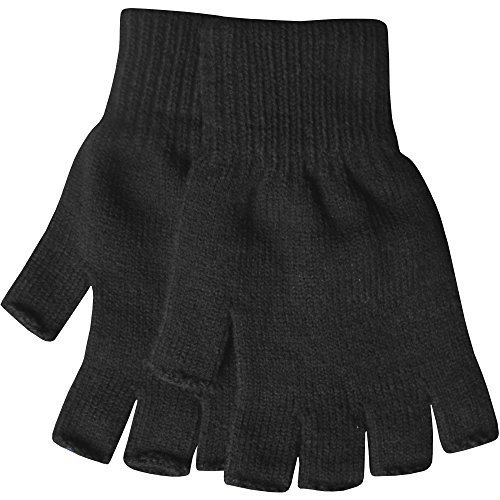 mens-warm-thermal-knit-fingerless-winter-gloves-black