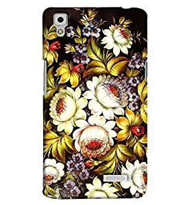 Blue Throat Flower White Pattern Printed Designer Back Cover For Oppo R7