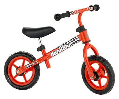 Molto - Bicicleta sin pedales, con casco, color rojo (16226)