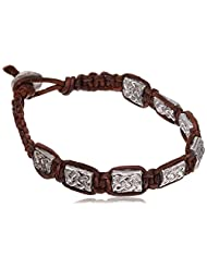 Unknown By Ayesha Leather Strand Bracelet For Men (Brown) (63054)