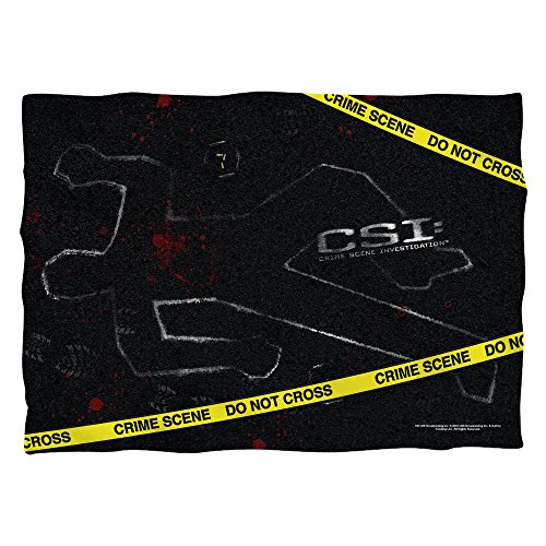 CSI:Crime Scene Investigation Action TV Show Chalk Oultine Front/Back Pillowcase