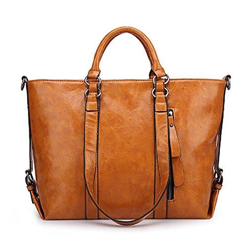 GUAPA-LAN-Taschen-Bags-34-cm-27-cm-13cm-Europische-und-amerikanische-Mode-einfach-wilde-neuen-Trend-Schulter-Kurier-portable-PU-Leder-Handtasche-grn