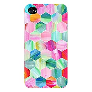 EYP Hexagon Pattern Back Cover Case for Apple iPhone 4