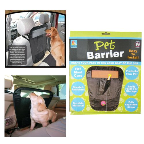 Pet Auto Barrier Blocks Dogs Access To Auto Car Front Seat Adjustable Seen On Tv