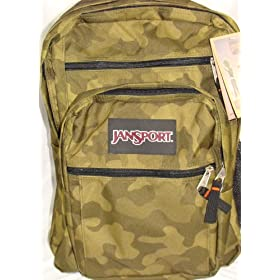 Jansport Big Student Backpack True Camo Surplus Green