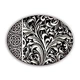 Michel Design Works Glass Soap Dish, Black Florentine