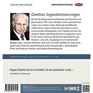 Dichtung und Wahrheit - Teil I und II: Lesung mit Gert Westphal (2 mp3-CDs)