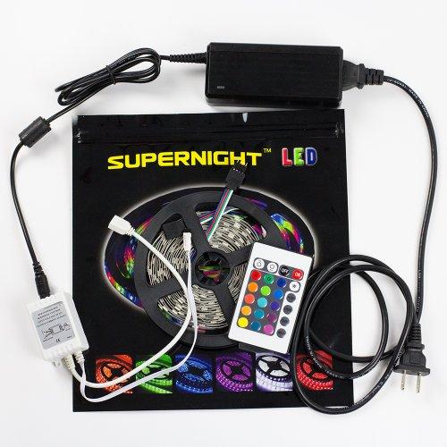 Supernight (Tm) Smd 5050 Led Light Ribbon Kit 150Leds Led Strip Light Kit Power Supply 24 Keys Mini Remote Controller High Density 30 Leds/M Garden Lighting Tv Backlighting Bedroom Lighting front-27079