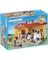 Playmobil - A1502643 - Jeu De Construction - Ecurie Transportable