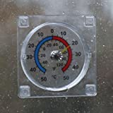 Dial Window thermometer - read the outside temperature from inside