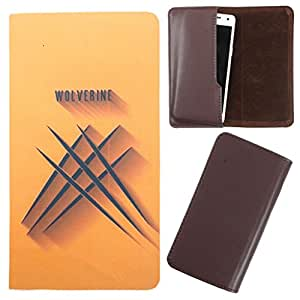 DooDa - For Karbonn A108 PU Leather Designer Fashionable Fancy Case Cover Pouch With Smooth Inner Velvet