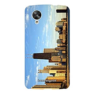 HomeSoGood Towering Chicago Multicolor 3D Mobile Case For LG Nexus 5 (Back Cover)