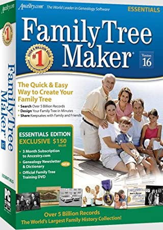 Family Tree Maker Version 16 Essential Sb Cs