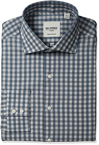 ben-sherman-mens-exploded-gingham-shirt-with-royal-spread-collar-navy-grey-155-neck-32-33-sleeve